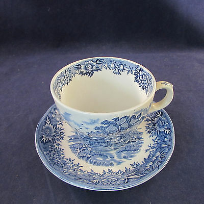 SET OF EIGHT - Salem China ENGLISH VILLAGE Cup & Saucer Sets *