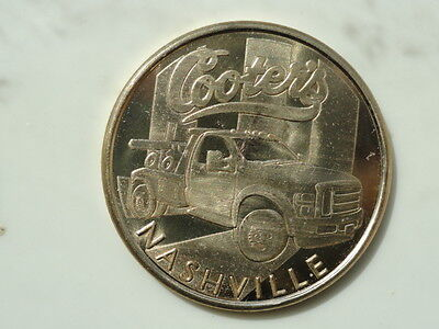 Opryland Nashville Cooter's Garage Tow Truck Medallion Coin Dukes of Hazzard