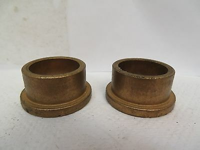 """New No Name Flanged Brass Bronze Bushing 1"""" Id 1-1/4"""" Od 3/4"""" Width """"lot Of 2"""""""