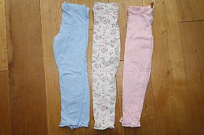 3 Pairs of Pastel Girls' Leggings - age 4-5 years