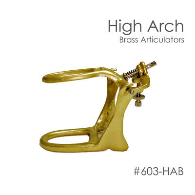 DENTAL ARTICULATOR BRASS DENTURE HIGH ARCH Box Of 6 META-0229
