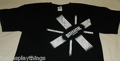 Beefeater London Shirt Sz Large Black NEW Promo Item T-Shirt
