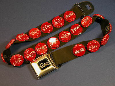 Coca Cola Internatonal Bottle Caps Rubber Belt With Logo Seat Belt Buckle
