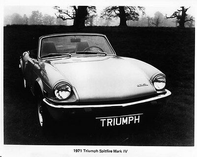 1971 Triumph Spitfire Mark IV Factory Photo ad7009
