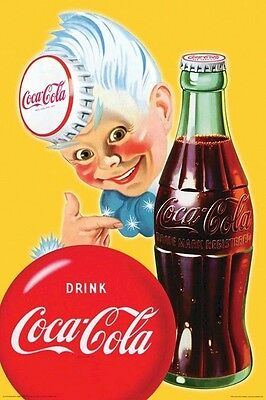 COCA COLA ~ ROSY ~ 24x36 ADVERTISING POSTER ~ Coke Soda Pop Bottle NEW/ROLLED!