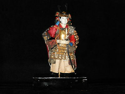 Japanese Gesso and silk early 20th century Samurai Doll