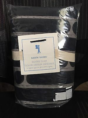 "1 New Rare Pottery Barn Kids Star Wars Darth Vader Euro Sham 26""sq (2 Available)"