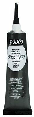 Pebeo 37 ml Vitrail Stained Glass Effect Cerne Relief Tube with Nozzle , Imitati