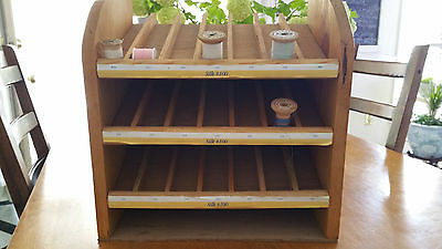 Vintage Wood Sewing Thread Shelf Display Rack for Accessories Shop Display
