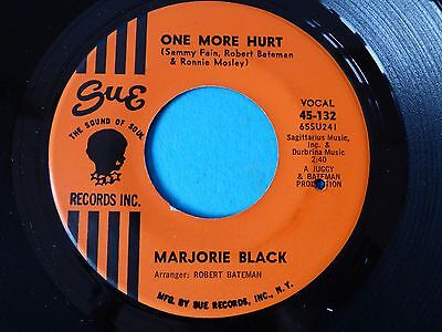 "Rare Northern Soul Wigan Casino Torch R&b 7"" Record One More Hurt Marjorie Black"