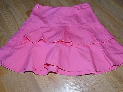Toddler Size 4T Tommy Hilfiger Solid Pink Tiered Ruffled Mini Skirt EUC