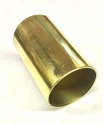 """1 1/4""""/1.25"""" OD Brass Straight Connector For Player Piano Restoration 2"""" Long"""