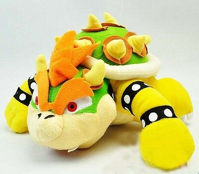 Super Mario Brother Bros. King Party Bowser Figure Koopa Plush Toy Doll 10""