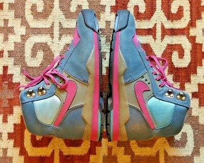 Vintage Nike Lava Dome Light Weight Hiking Boots Hot Pink & Blue! WM Size 8-8.5