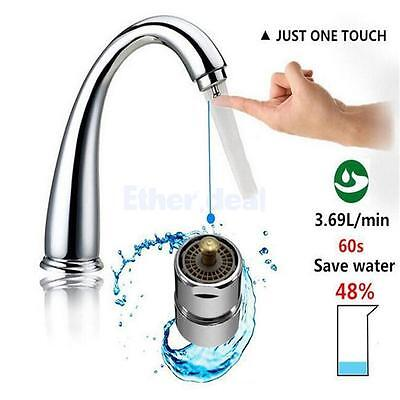 Kitchen Bathroom Faucet Saver One Touch Control Tap Aerator Save Up Water