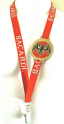 Unique Embroidered Bacardi Lanyard With Logo Patch Attached