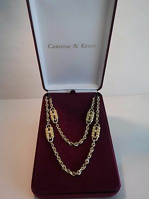 Camrose & Kross JBK Jackie Kennedy Double Strand Paper Clip Necklace Boxed