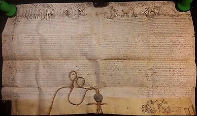 POPE INNOCENT XI BULLA on LARGE PARCHMENT with METAL SEAL LEAD ATTACHED - 1688