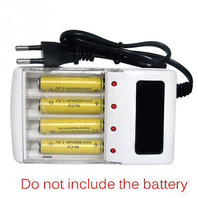 4 Ports Battery Charger Aa And Aaa Battery Charger Charger Eu Plug