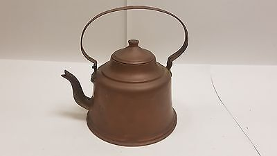 Terrific Antique 19th Century Copper Kettle