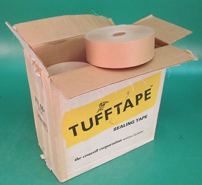 "12 New Rolls of Crowell Tuff Tape Sealing Tape 2-1/2""x600' Medium Duty Packing"