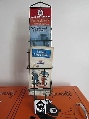 Texaco Touring Service Map Display Wall Hanger