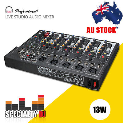 Pro 7 Channel DJ Digtal Live Studio Audio Sound USB Mixer Mixing  Console Gray