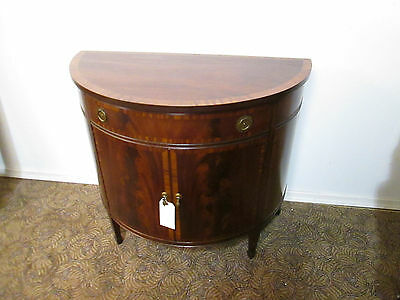 57840   Antique JOHNSON HANDLEY  Banded Inlaid Console Stand Chest Server