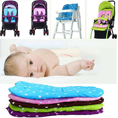 Ultra Soft  Infant Stroller Pram Pushchair Cotton Seat Liner Pad Cushion Mat Hot