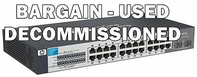 HP 1410-24G J9561A#ABG 24-Port Gigabit Network Switch Rack  *USED-DECOMISSIONED