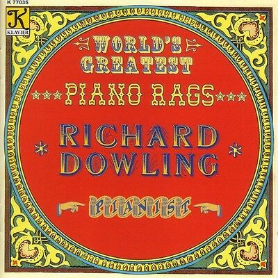 Richard Dowling - World's Greatest Piano Rags [New CD]