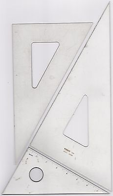 Vintage Acrylic Right Angled Drawing Triangles