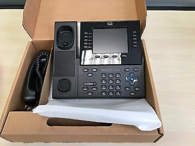 Cisco CP-8961-C-K9 Unified IP Phone 8961 VoIP Black w/ Handset & Stand