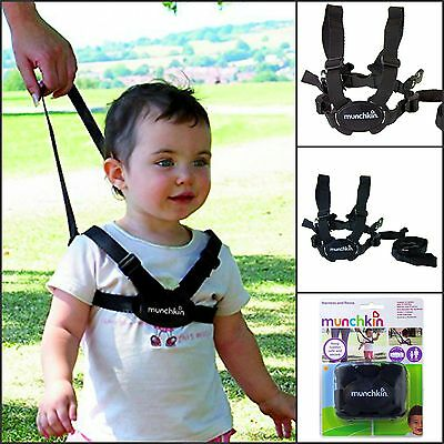 Baby Kids Safety Harness and Reins Walking  Sure Steps Munchkin Toddler Walk