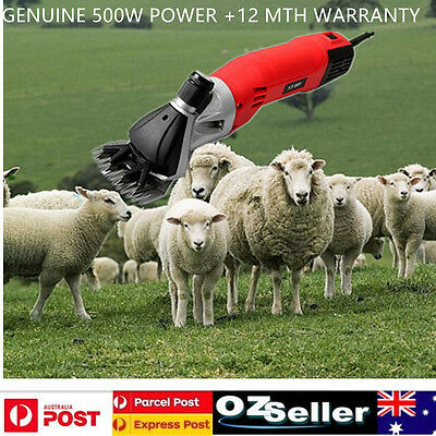 AU 500W Electric Sheep Shearing Supplies Goats Clipper Shear Shears Alpaca Farm