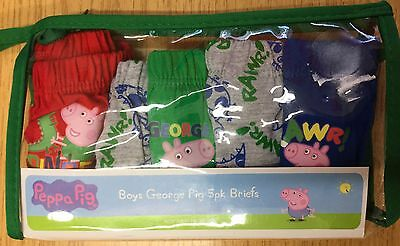 Baby Boy 5 pack Briefs with Peppa Pig detail sizes 12-18 and 18-24 months