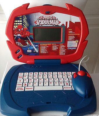 Childrens The amazing Spiderman Educational Talking Laptop Toy Age 3 Up