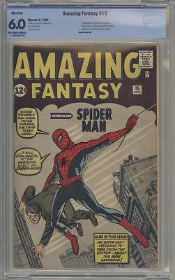 AMAZING FANTASY 15 - CBCS 6.0 - First Peter Parker / Spider-man - Marvel Comics