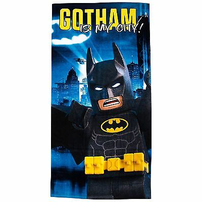 Lego Batman Movie Hero Beach Towel Kids Towel New Official Blue Grey Free P+P