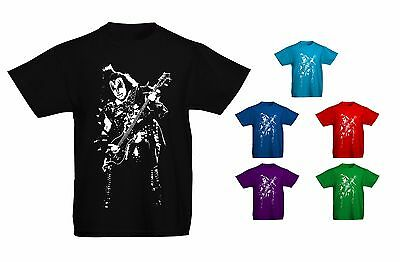 Kids Childrens Gene Simmons Kiss Iconic Rock Metal T-shirt Sizes Age 5 to 13