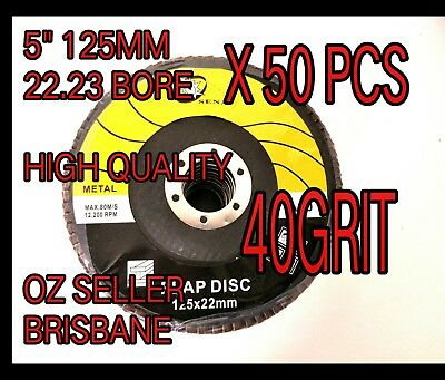 "50pc x 5"" 125mm FLAP WHEEL Metal Sanding  GRINDING Disc DISCS FOR ANGLE GRINDER"