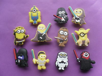 11 Star Wars Despicable Me Minions jibbitz crocs shoe loom charms cake toppers