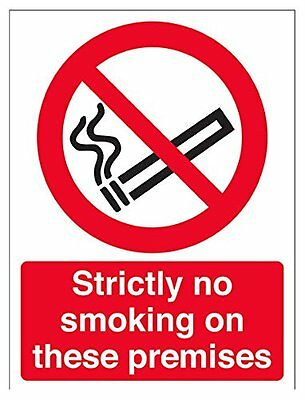 "VSafety 57049AN-W ""Strictly No Smoking On These Premises"" Prohibition Sign, Wind"