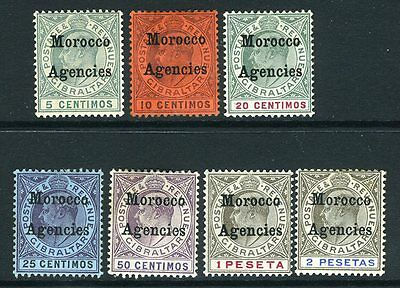 MOROCCO AGENCIES-1903-5 Complete set to 2p. A mounted mint  set Sg 17-23