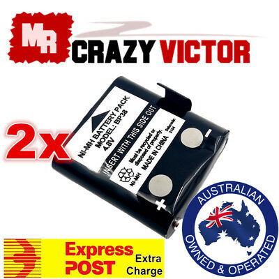 2 X Replacement Battery for UNIDEN BP38 BP40 UHF Handheld Radio