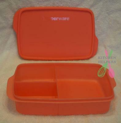 Tupperware Sandwich Keeper Large Divided Lunch Box -  Guava- New