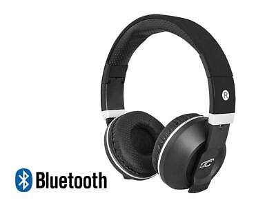 Stereo Bluetooth  Wireless+Wired Headphones Earphone Over-Ear Headset Mic BLACK