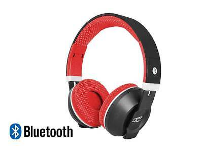 Stereo Bluetooth  Wireless+Wired Headphones Earphone Over-Ear Headset Mic red