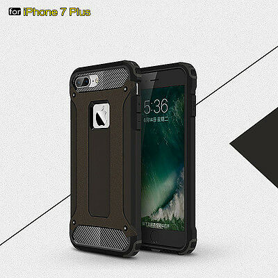 Shockproof Silicone Hybrid Hard PU Protective Case Cover For Apple iPhone 7 Plus