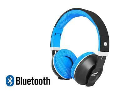 Stereo Bluetooth  Wireless+Wired Headphones Earphone Over-Ear Headset Mic blue
